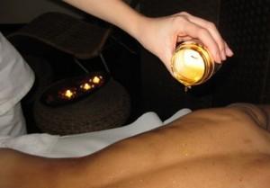 Masaje con velas